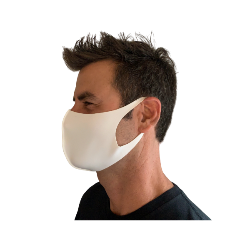 LASER CUT POLY CONTOUR MASK, WHITE 10PK Thumbnail