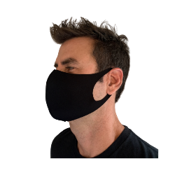 LASER CUT POLY CONTOUR MASK, BLACK 10PK Thumbnail
