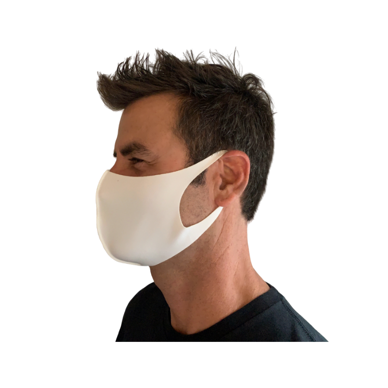 The Laser Cut Polyester Mask, White (10-Pack)