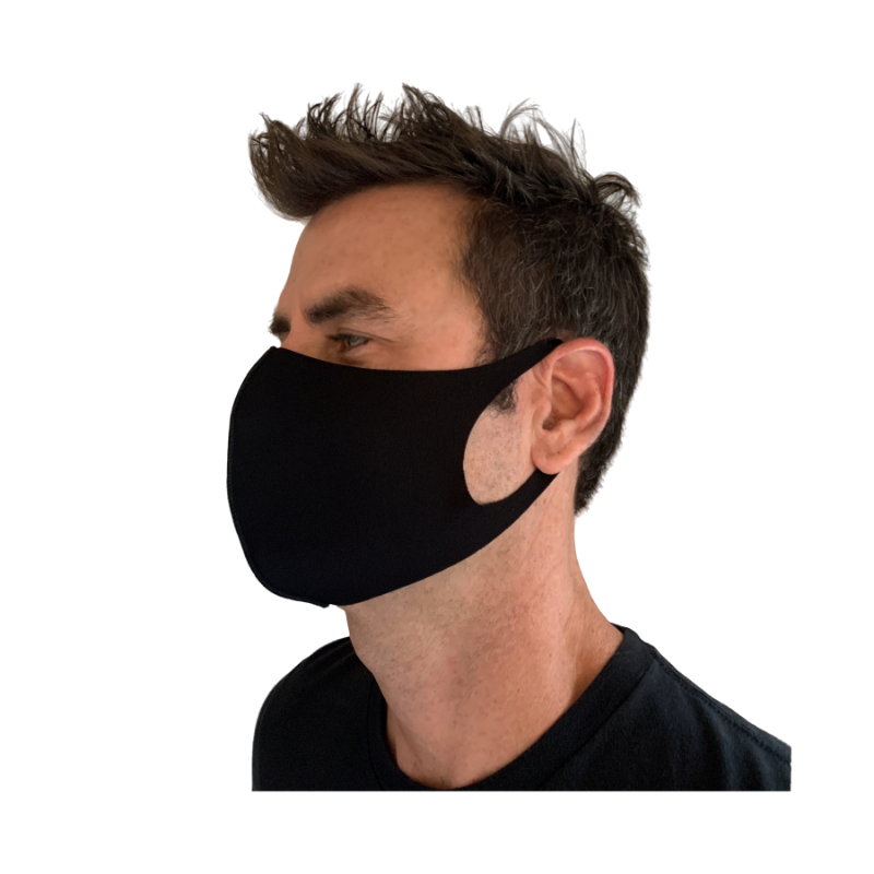 LASER CUT POLY CONTOUR MASK, BLACK 10PK